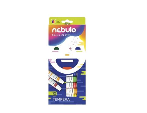 Farby tempera w tubie 12 kolorów NEBULO