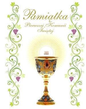 Pamiątka Pierwszej Komunii Św. (kielich, hostia)-331154