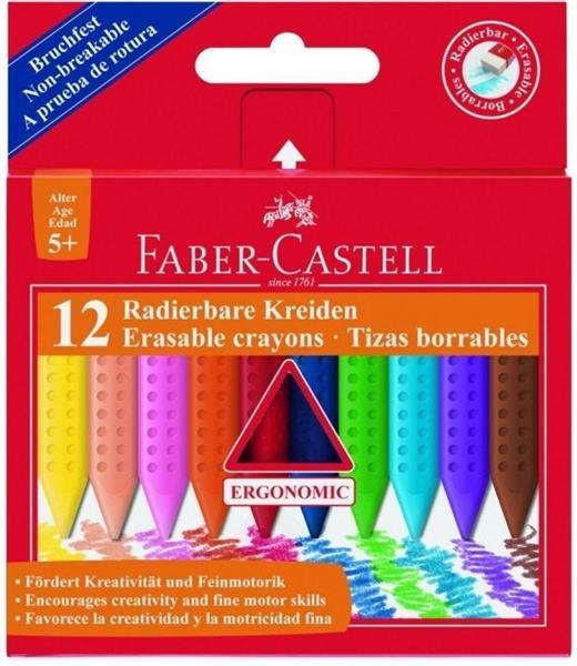 Kredki Grip trójkątne woskowe 12 kolorów