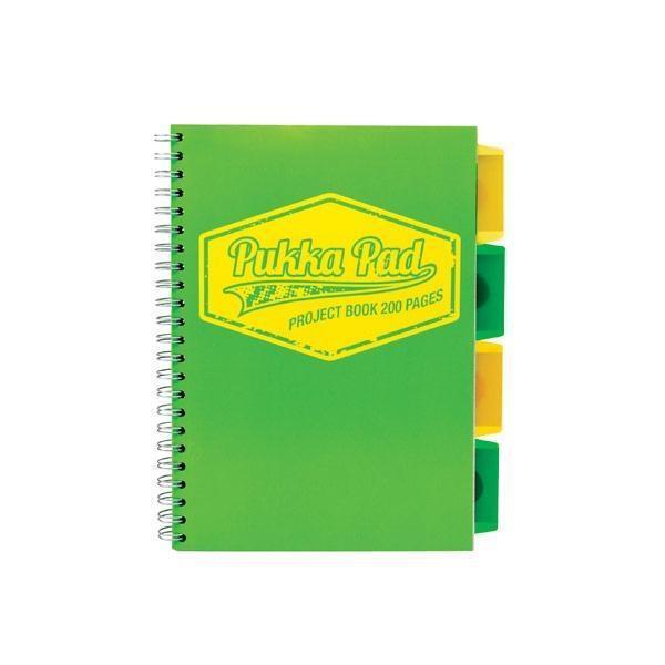 Project Book Neon B5/100K kratka zielony (3szt)