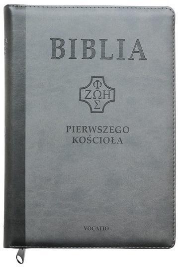 Biblia pierwszego Kościoała z paginat. szara