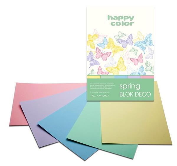 Blok A4/20K Deco Spring 170g HAPPY COLOR