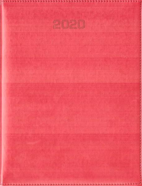 Kalendarz 2020 Tygodniowy A4 Vivella czerwony