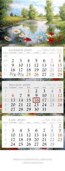 Kalendarz 2020 Trójdzielny Ekonom. Plener KE3