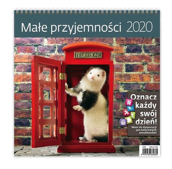 Kalendarz 2020 Małe przyjemności 30x30cm NARCISSUS
