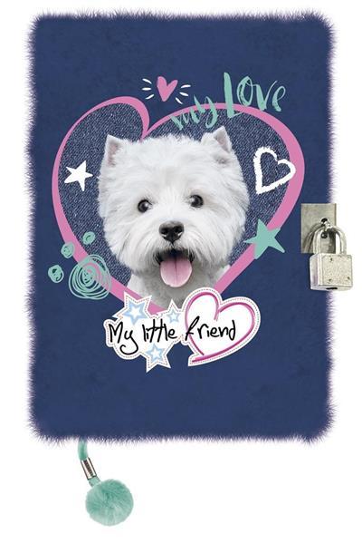 Pamiętnik z kłódką A5/96K My Little Friend Pies