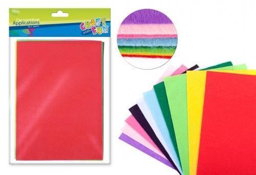 Filc arkusz 10 kolorów A4