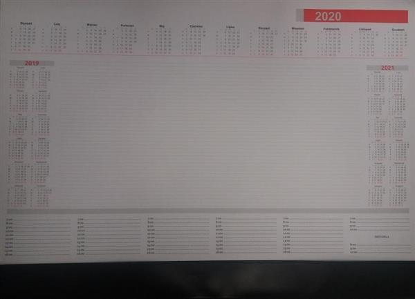 Kalendarz 2020 Biuwar A2 z listwą (30 kart)
