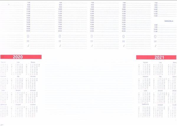 Kalendarz 2020 Biuwar B3 z listwą (30 kart)