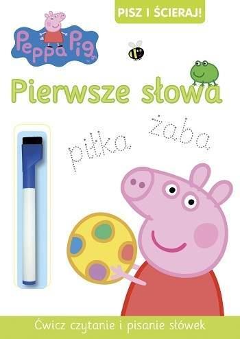 Peppa Pig. Pisz i ścieraj pierwsze słowa outlet