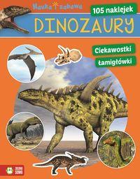 Dinozaury Nauka i zabawa 105 naklejek ZS outlet