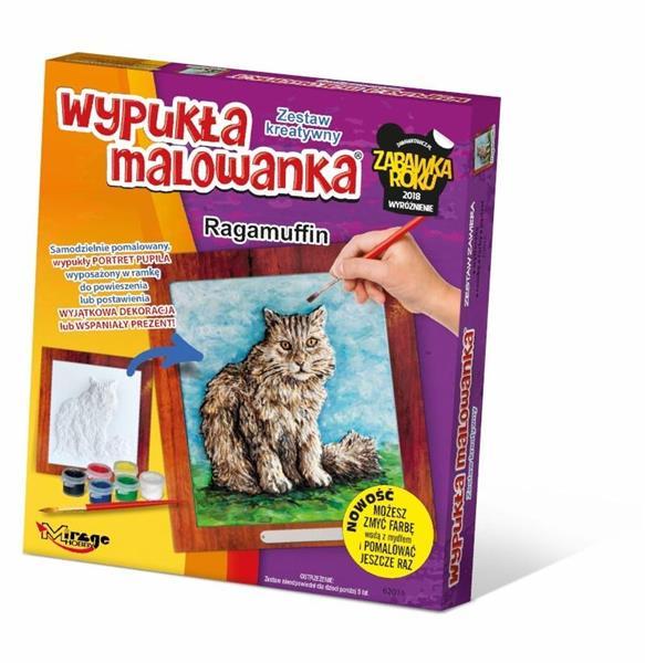Wypukła Malowanka - Kot Ragamuffin