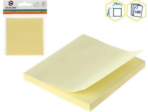 Karteczki samoprzylepne żółte 7,5 x7,5 cm