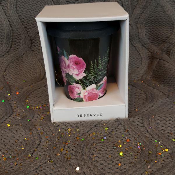 Kubek szklany RESERVED kwiaty