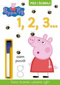 Peppa Pig. Pisz i ścieraj 1 2 3 outlet