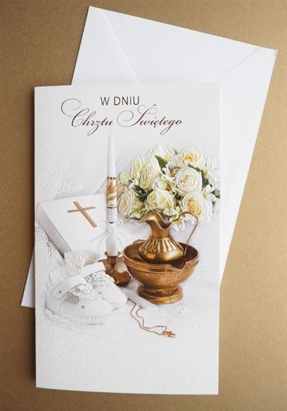 Karnet Chrzest W dniu chrztu + koperta ARGUS