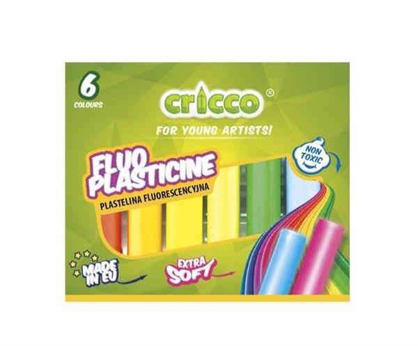 Plastelina fluorescencyjna 6 kolorów CRICCO