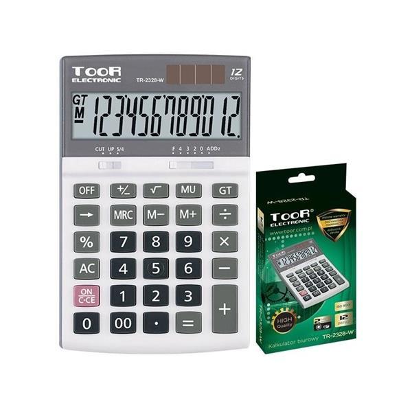 Kalkulator biurowy 12-pozycyjny TR-2328-W TOOR