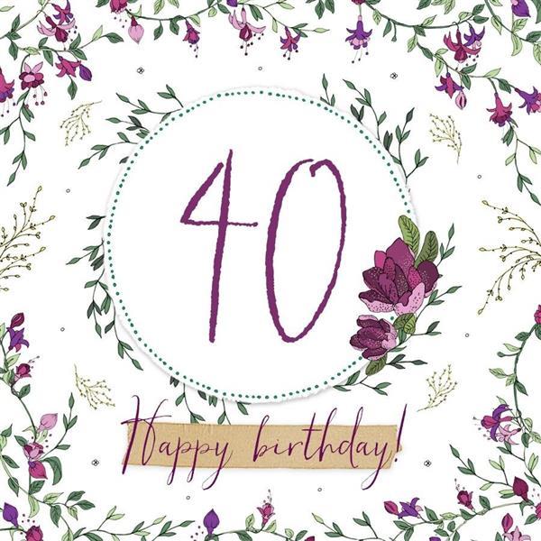 Karnet Swarovski kwadrat CL2240 Urodziny 40