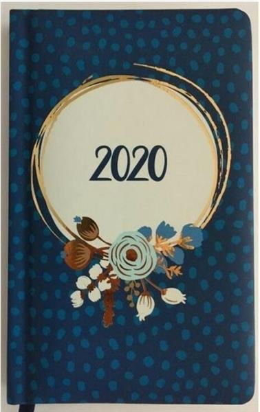 Kalendarz tygodniowy 2020 Kwiaty niebieskie ALBI