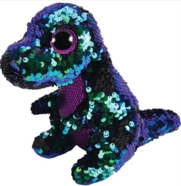 Beanie Boos Crunch - Cekinowy Dinozaur 24cm