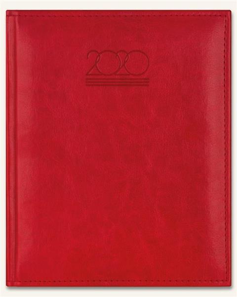 Kalendarz 2020 Książkowy B6 Plus czerwony półmat-359065