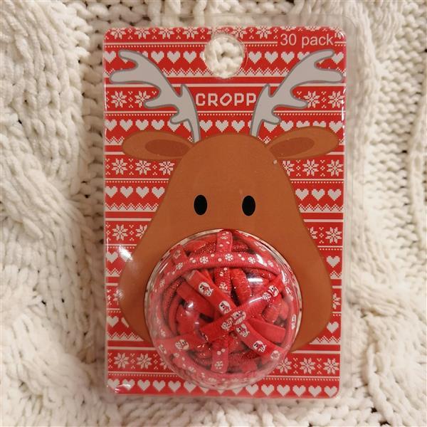 Markowy zestaw świątecznych gumek do włosów Cropp