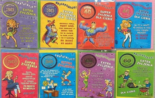 Karnet Party naklejany B6 + koperta Mix wzorów