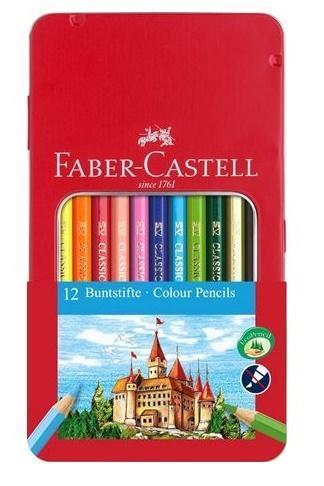 Kredki Zamek 12 kolorów op. metal. FABER CASTELL