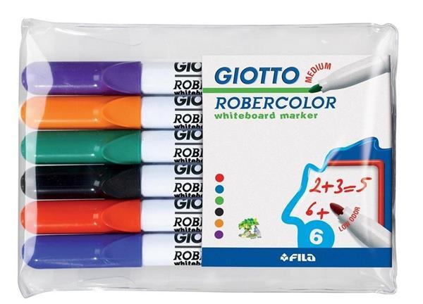 Marker suchościeralny 6 kolorów GIOTTO