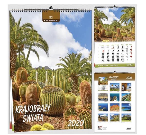 Kalendarz 2020 13 Plansz B3 - Kr. Świata EV-CORP