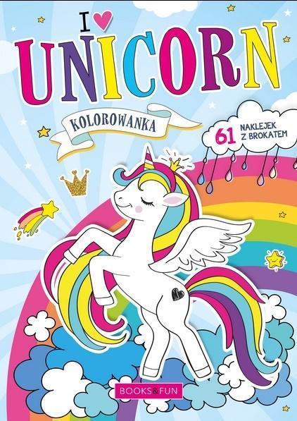 Kolorowanka z naklejkami - Unicorn