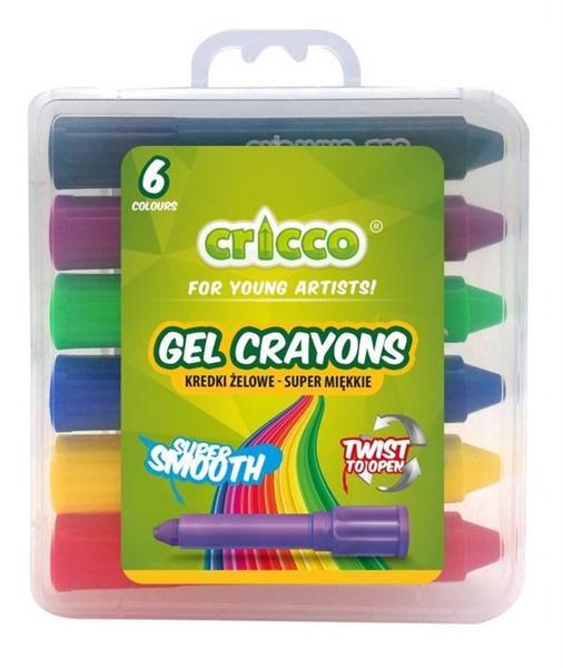 Kredki żelowe Twist 6 kolorów CRICCO