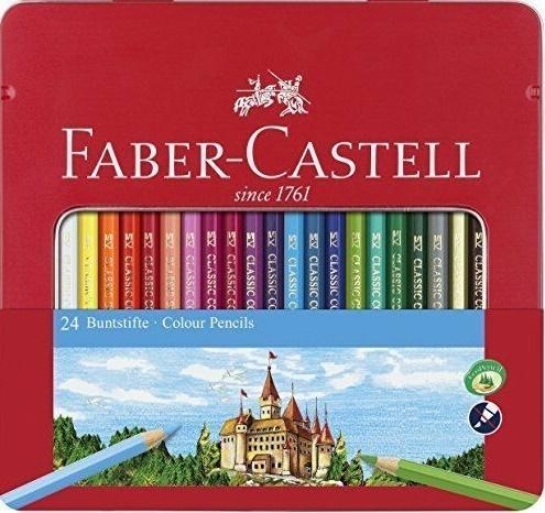 Kredki Zamek 24 kolory op. metal. FABER CASTELL