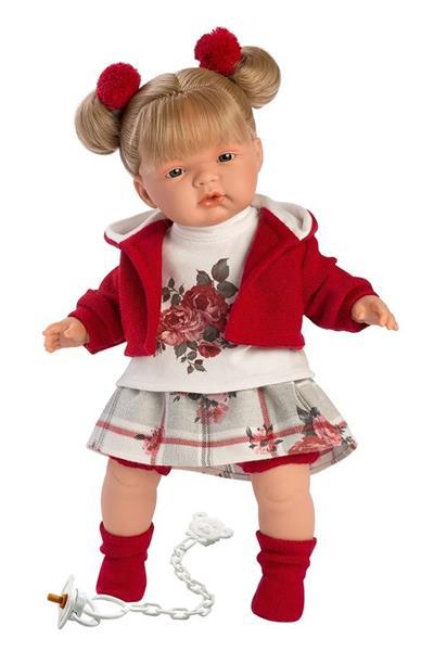 Lalka 38556 Joelle płacząca blond czerwona 38cm