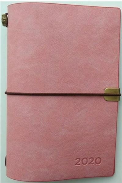 Kalendarz tygodniowy luksusowy 2020 różowy ALBI