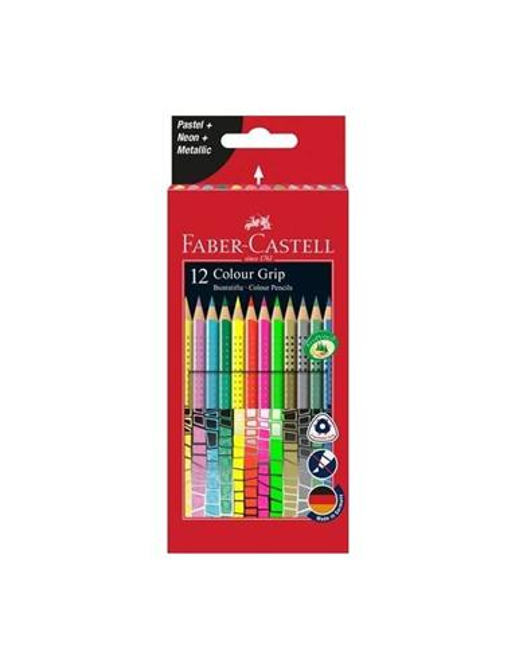 Kredki Grip ołówkowe kolory specjalne 12 sztuk