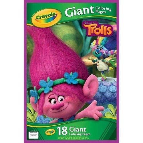 Gigantyczna kolorowanka Trolls