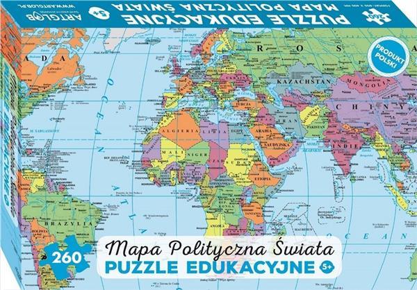 Puzzle 260 - Mapa Polityczna Świata