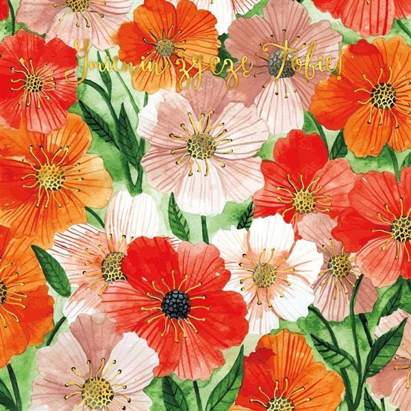 Karnet 155x155 Kwiaty berberysy