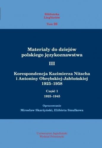 Materiały do dziejów pol. językoznawstwa 3 T.1-2