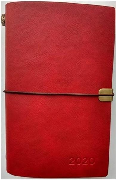 Kalendarz tygodniowy luksusowy 2020 czerwony ALBI