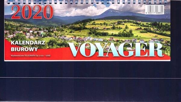 Kalendarz 2020 Biurowy Voyager granatowy