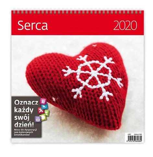 Kalendarz 2020 Serca 30x30cm NARCISSUS