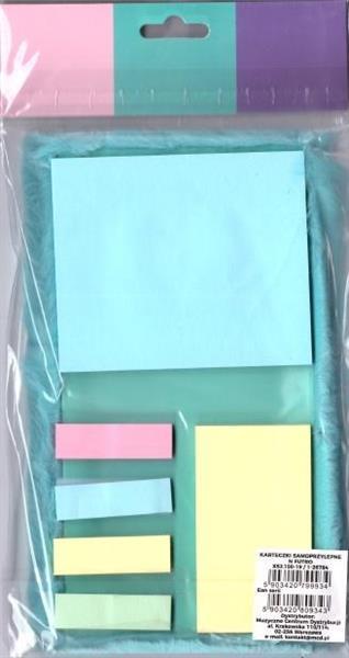 Karteczki samoprzylepne - futro (niebieski)