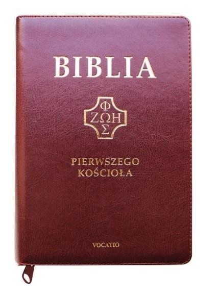 Biblia pierwszego Kościoła, burgundowa z...