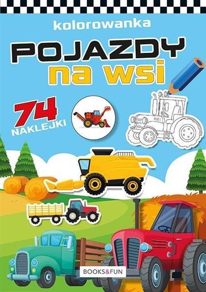 Kolorowanka z naklejkami - Pojazdy na wsi