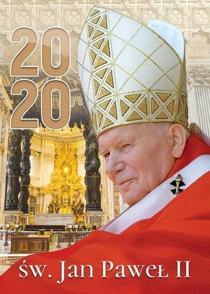 Kalendarz 2020 Ścienny św.Jan Paweł II ekonomiczny