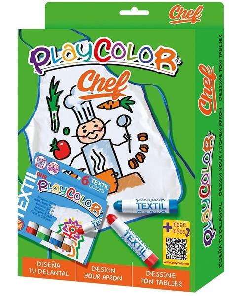 Farby do szyb 6 kolorów + fartuszek