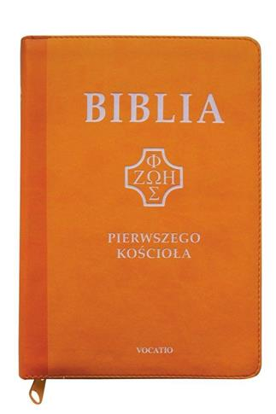 Biblia pierwszego Kościoła, żółta z paginatorami..